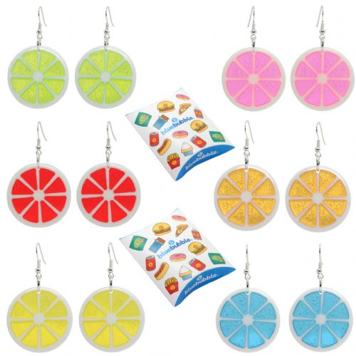 Bluebubble FEELIN FRUITY Fruit Slice Dangle Earrings With FREE Gift Box
